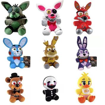 1pcs   At Freddy Foxy Fear Toy Plush Dolls Stuffed Animals Plush Fox Doll For Baby Christmas Gifts