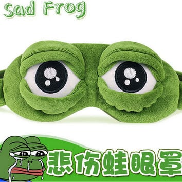 Pepe the frog Sad frog 3D Eye Mask Cover Sleeping Funny Rest Sleep Anime Cosplay Costumes Accessories Gift
