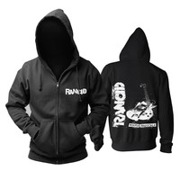 HOODIE RANCID Men's Punk Rock Band Black Hoodie Sweatshirt (S-3XL)