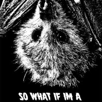 fruit Bat hanging upside down clipart png clip art Digital graphics download art printables animals so what if im a little batty text words