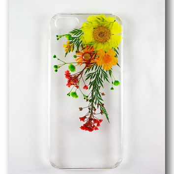 Handmade iPhone 5/5s case, Resin with Dried Flowers, Pressed flower art (28)