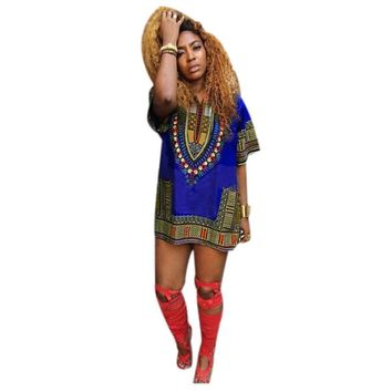 African   Straight Print Dresses