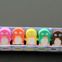 Seven Days of Penguin Erasers