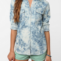 byCORPUS Acid Wash Chambray Button-Down Shirt