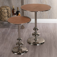 Leather Top Aluminum Table