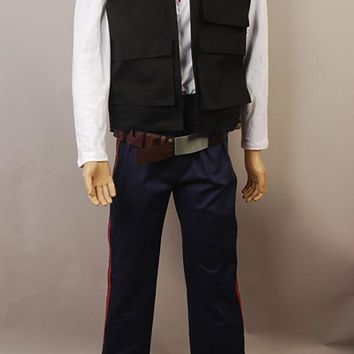 Star Wars IV A New Hope Han Solo Cosplay Costume Uniform Pants ONLY Halloween Carnival  Men
