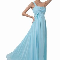 Dressystar Long Evening Gown Elegant Chiffon Prom Party Dress for Women