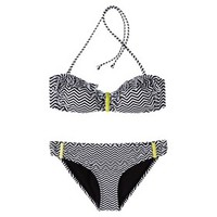 Xhilaration® Junior's 2-Piece Bikini Swimsuit -Zig Zag Print