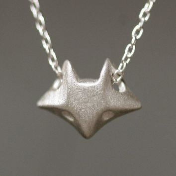 Fox Necklace in Sterling Silver by MichelleChangJewelry on Etsy