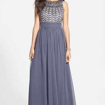 Women's JS Collections Embellished Chiffon Gown,
