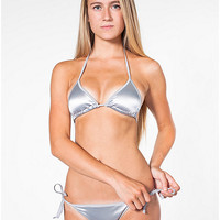 Rochelle Satin Side-Tie Bikini Bottom | American Apparel