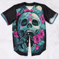 Skull and Roses XO Baseball Jersey