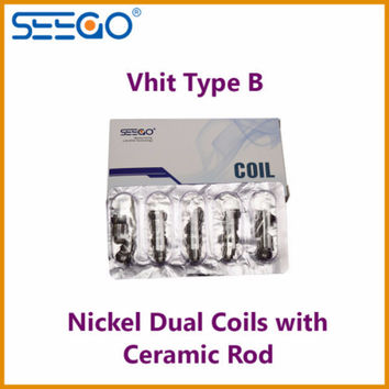 Seego Vhit Type B Nickel Dual Coil w/ Ceramic Rod Temp Control Coils