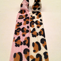 Cheetah Elastic Hair Ties -  Pony Tail Holder - by Elastic Hair Bandz