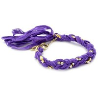 Ettika Violet Braided Vintage Ribbon Rhinestone Crystal Bracelet: Jewelry: Amazon.com