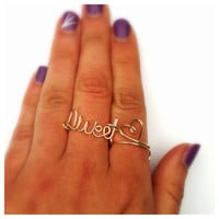 Sweet Heart Ring set, Gold