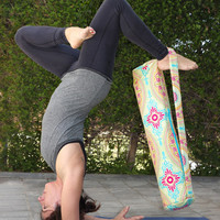 Yoga mat bag with zipper closure pilates exercise mat bag crossbody or over the shoulder READY TO POST