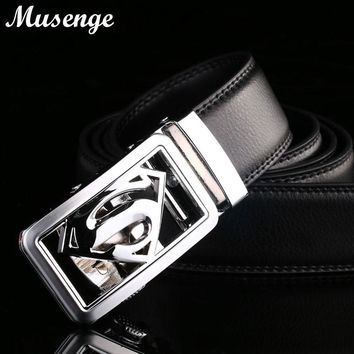 Genuine Leather Belt Men Designer Belts Mens High Quality Male Automatic Buckle Ceinture Homme Cinturones Hombre Cinto Masculino