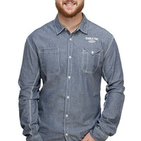 Official Vault-Tec Long-Sleeve Workshirt - Denim,