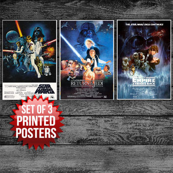 Collectors Set Star Wars Poster - Set of 3 Posters Gift