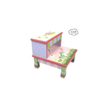 Fantasy Fields Magic Garden 2-Step MDF Step Stool with 200 lb. Load Capacity