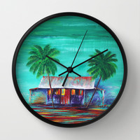 The Shack Wall Clock by Sophia Buddenhagen