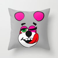 Miley's Pink Bear Throw Pillow by LookHUMAN