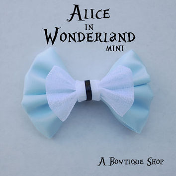 alice in wonderland mini hair bow