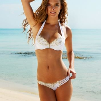 Beach Bunny Swimwear LACE BRIDAL PUSH UP & SKIMPY BIKINI BOTTOM - Swimwear Shop By Style Tops Sexy Push-Up