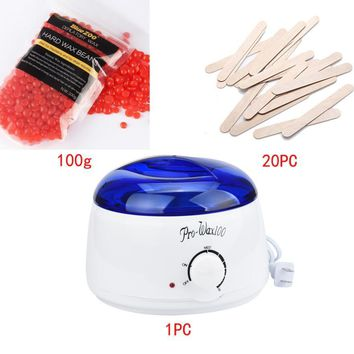 Great Deal 2017 New Hot Film Hair Removal Beans Hair Removal Hot Paraffin Wax Warmer Heater Pot Machine Depilatory Hard Wax Bean