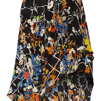 Preen by Thornton Bregazzi - Laboni printed silk-jacquard skirt