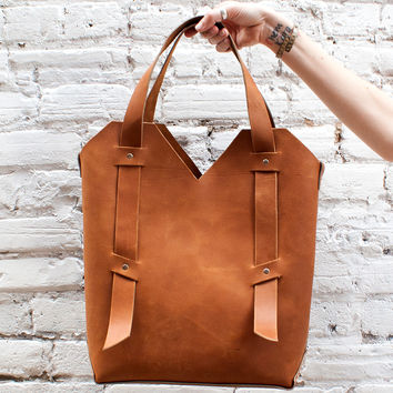 Librarian Leather Tote