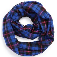 Big Buddha Plaid Lace Infinity Scarf