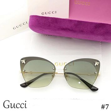 GUCCI 2018 new tide brand bee fashion sunglasses color film polarized sunglasses #7