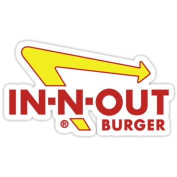 'IN N OUT BURGER LOGO' Sticker by rpride