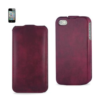 FITTING CASE APPLE IPHONE 4/4S HORSE SKIN PATTERN RED