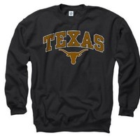 Texas Longhorns Youth Black Perennial II Crewneck Sweatshirt
