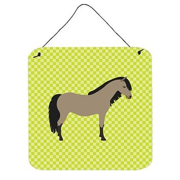 Welsh Pony Horse Green Wall or Door Hanging Prints BB7736DS66