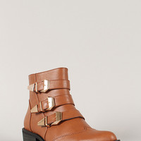 Shoe Republic Thomas Buckled Pointy Toe Bootie