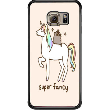 Pusheen Cat With Unicorn For Samsung Galaxy S6 Edge Case **