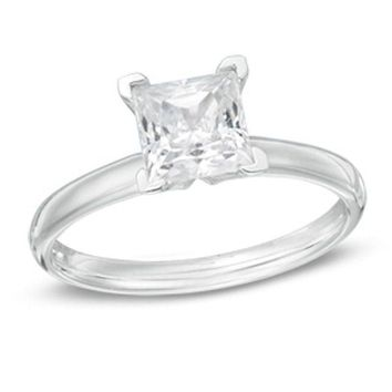 2 CT. Princess-Cut Diamond Solitaire Engagement Ring in 14K White Gold (I/SI2)