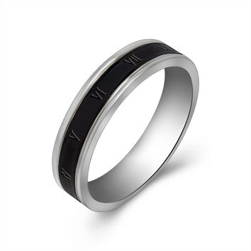 Shiny New Arrival Jewelry Gift Roman Vintage Simple Design Stylish Titanium Ring [6542648131]