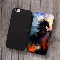 unicorn Galaxy Nebula Wallet Leather Case for iPhone 4s 5s 5C SE 6S Plus Case, Samsung S3 S4 S5 S6 S7 Edge Note 3 4 5 Cases