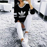 """Adidas"" Casual Print Sweatshirt Top Sweater"
