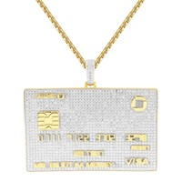 Men's Bank Visa Credit Card Rich Iced Out Custom Pendant