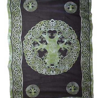 "Celtic Tree of Life Tapestry 72"" x 108"""