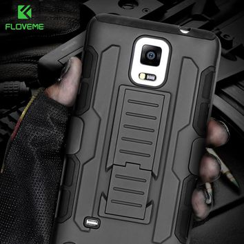 FLOVEME For Samsung S8 Plus S7 S6 Edge Plus S5 Case Men Military Armor Phone Case For Samsung Galaxy Note 4 5 3 S6 S7 S8 Cases