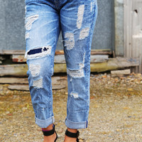 Big Star Slouchy Distressed Skinny