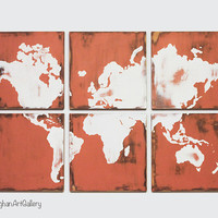 The Vintage World Map Collection XVI by CallaghanArtGallery