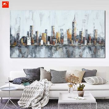 Canvas Wall Art: New York Skyline on Canvas